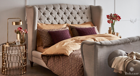 Zantine Jacquard bedding on Barker and Stonehouse bed