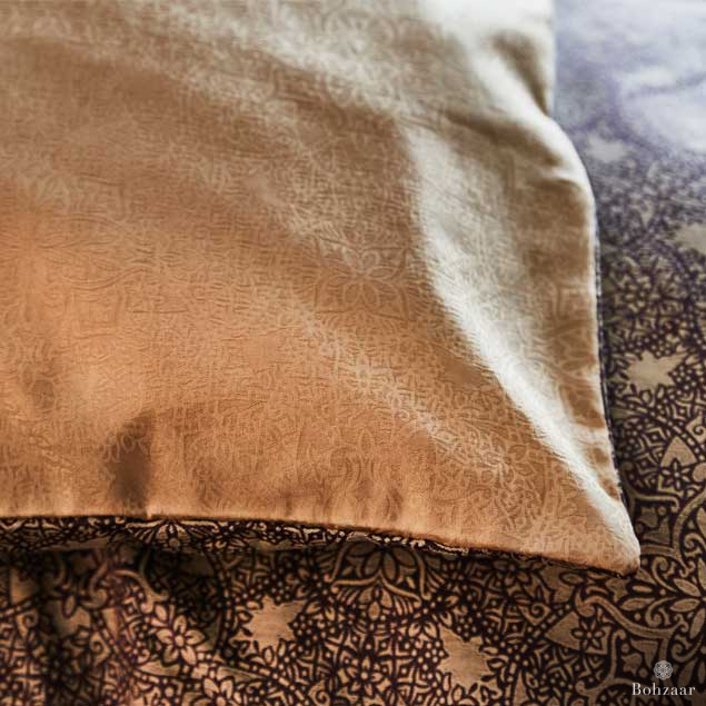 Zantine Jacquard Old Gold Fabric Bohzaar _3178rt