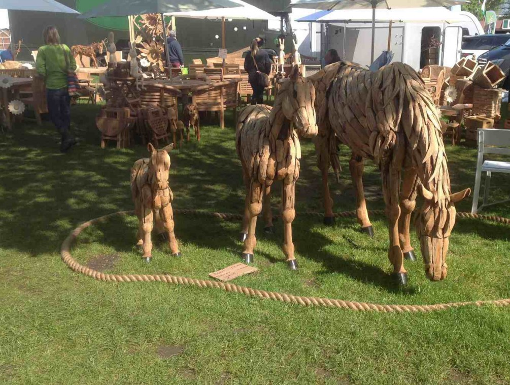 Wooden Horses at RHS Malvern Spring show 2015