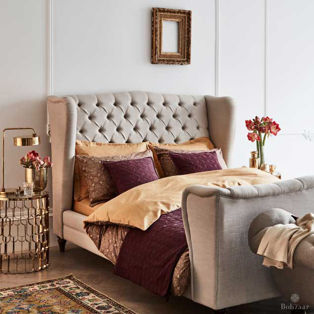 Zantine Deep Plum bed cover Throw by Bohzaar _3172rt