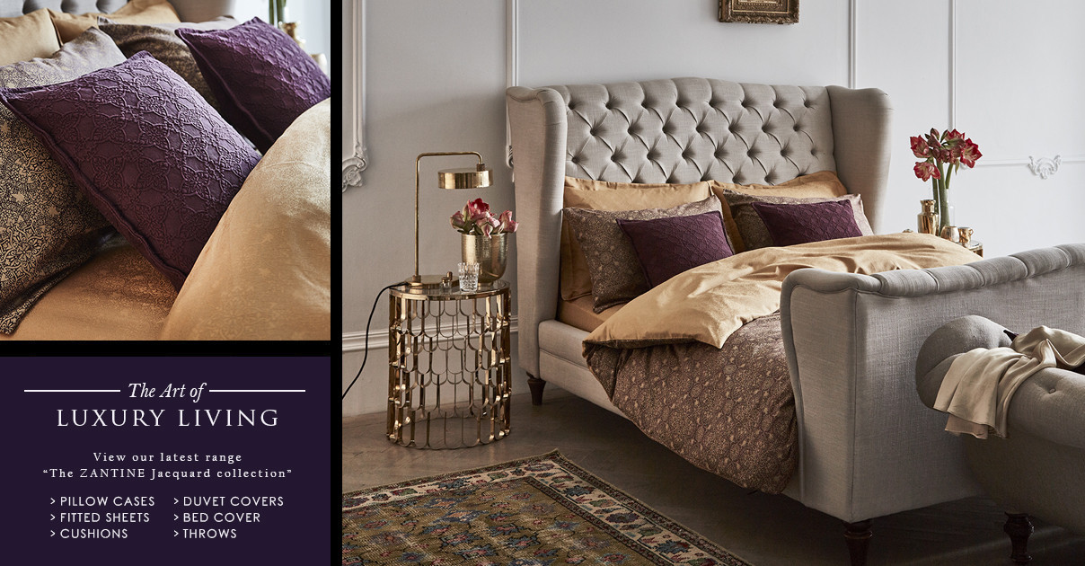 Zantine Plum and Old Gold Jacquard collection