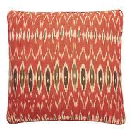 Ikat Red Black Nomads cushion