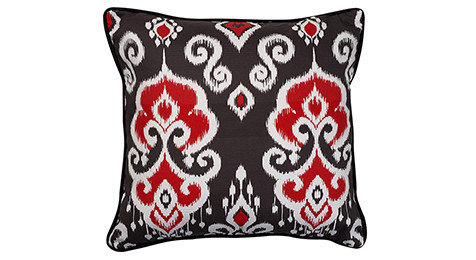 Nomads Altai Ikat Red White on Black base