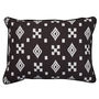 Altai Ikat Cushion Multi Tribal Motifs White on Black