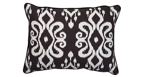 Nomads Altai Ikat white on black