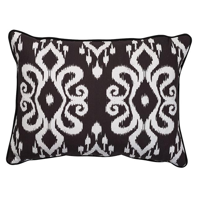 Altai Ikat Cushion White on Black 35cmx50cm: Nomads Altai Ikat white on black