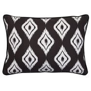 Altai Diamond Cushion White on Black