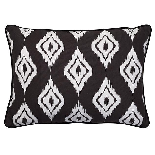 Altai Diamond Cushion White on Black: Nomads Altai Diamond White on black