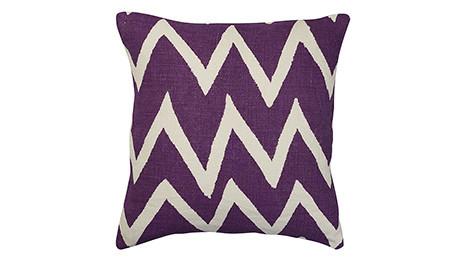 Linen Big Zigzag reverse Lilac