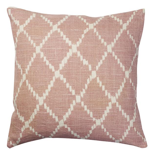 Linen Ikat Kerela reverse soft pink: Ikat Kerela Reverse Pink 50cmx50cm