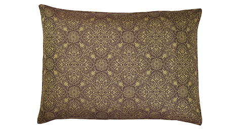 Zantine Pillowcase Plum and Old Gold-Envelope style