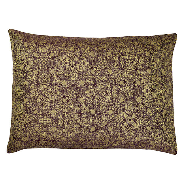 Zantine Pillowcase Plum and Old Gold-Envelope style: Zantine Housewife Pillowcase Plum & Old Gold