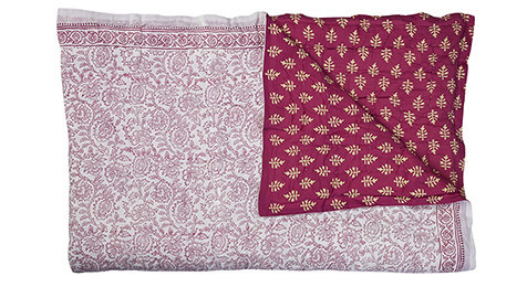 Harmony Quilt -Berry/Cream & fuchsia white
