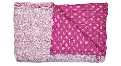 Harmony Cotton Quilt - Fuchsia