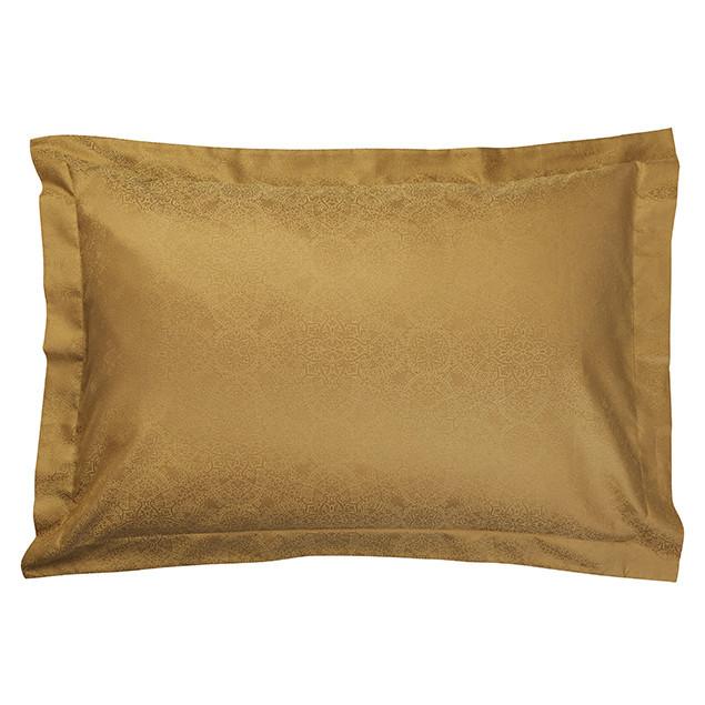 Zantine Pillowcase Old Gold- Oxford: Zantine Gold Oxford pillowcase