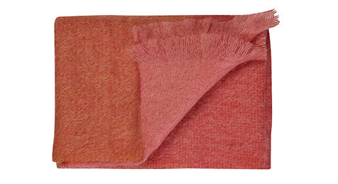 Sunset Mohair throw by Bohzaar