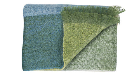 Pacific Blue Mohair throw by Bohzaar