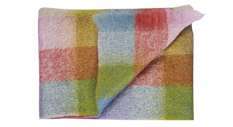 Luxury Mohair Throw - Cotton Candy