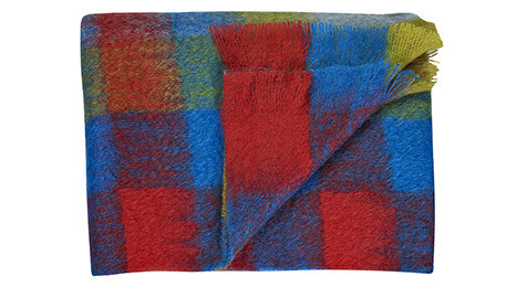 Firestone Mohair throw by Bohzaar