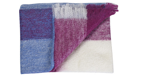 Berry Stripe Mohair Throw by Bohzaar