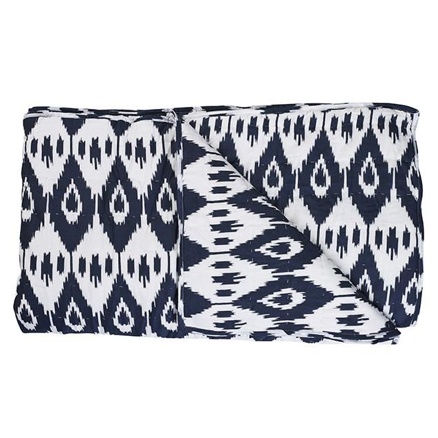 Jodpur Navy Ikat Quilt: Jodpur navy quilt