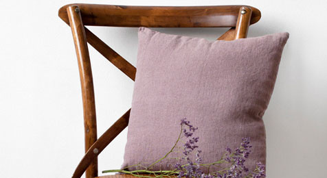 A Rose Colour Linen cushion
