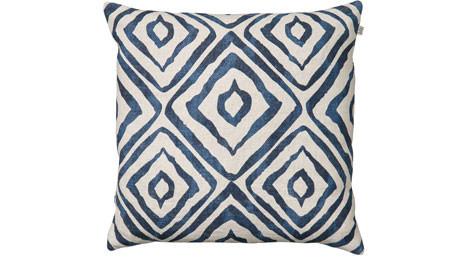 Amba Blue Linen Cushion Chhatwal & Jonsson