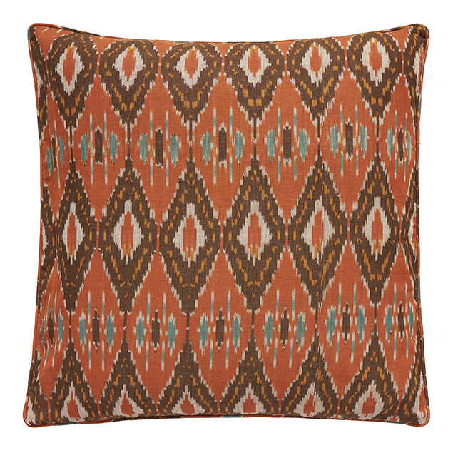 Ikat Orange & Turquoise Nomads cushion