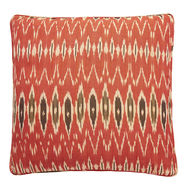 Ikat Red Black Nomads cushion