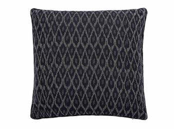 Ikat Black Grey Nomads Cushion