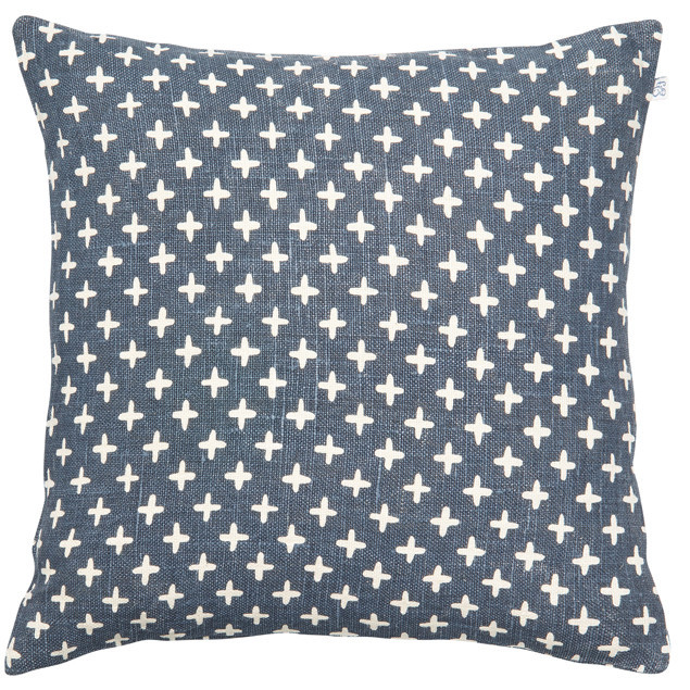 Cadi Linen Cushion Blue: Cadi Linen Cushion Blue