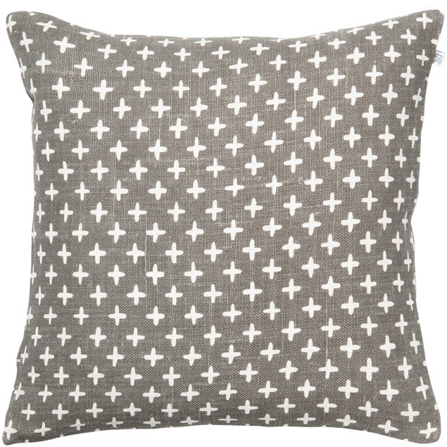 Cadi Linen Cushion Gray: Cadi Linen Cushion Gray Grey