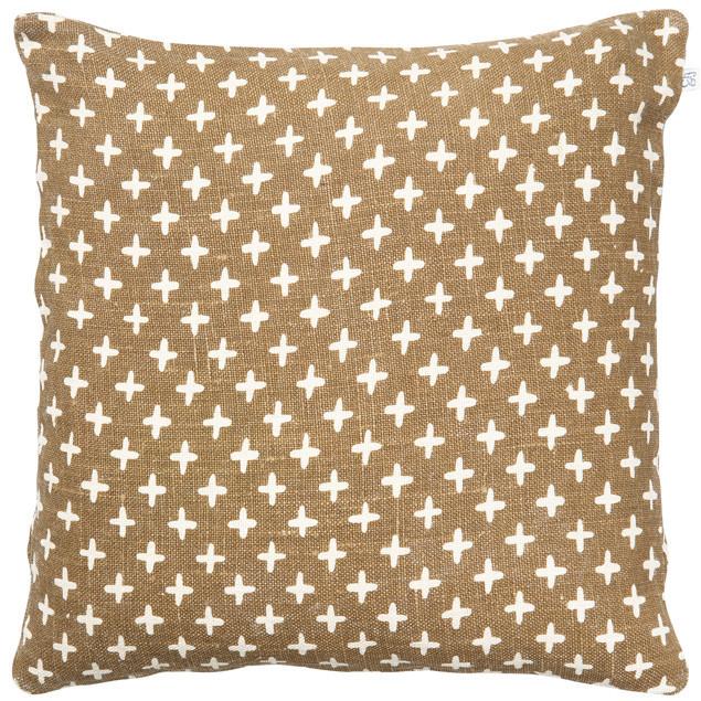 Cadi Linen Cushion Dark Oak: Cadi Linen Cushion Dark Oak