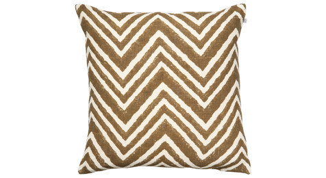 Chevron Cushion Dark Oak