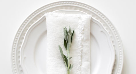 Creamy White Vintage Napkins with Fringes