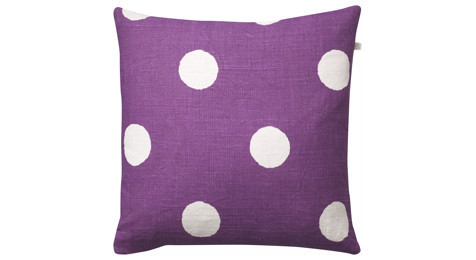 Big Dots reverse cushion Lilac