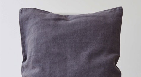 Dark Grey Linen cushion
