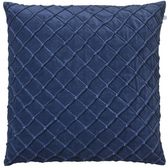 Deva Velvet Cushion Blue: Deva Velvet Cushion Blue