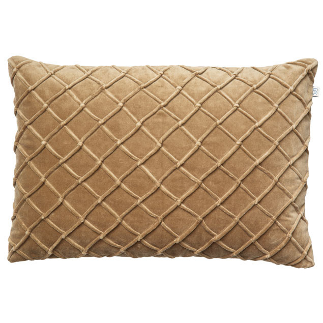 Deva Velvet Cushion Dark Oak rectangular: DEVA VELVET CUSHION DARK OAK RECTANGULAR