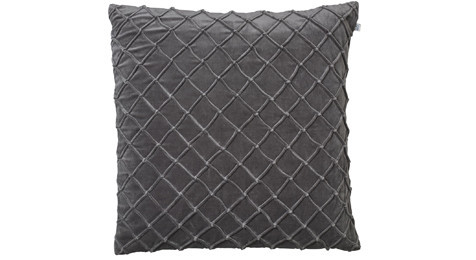 Deva Velvet Cushion Gray