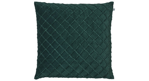 Deva Velvet Cushion Green