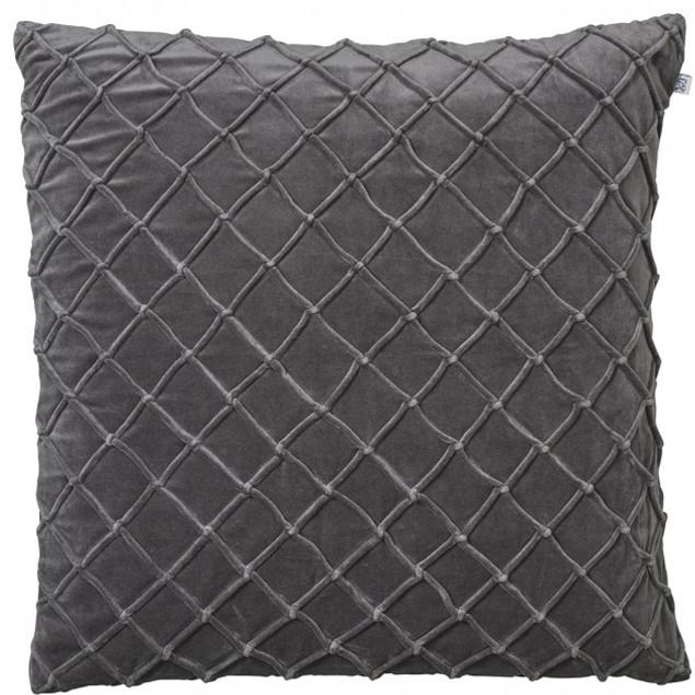 Deva Velvet Cushion Gray: Deva Velvet Cushion Gray