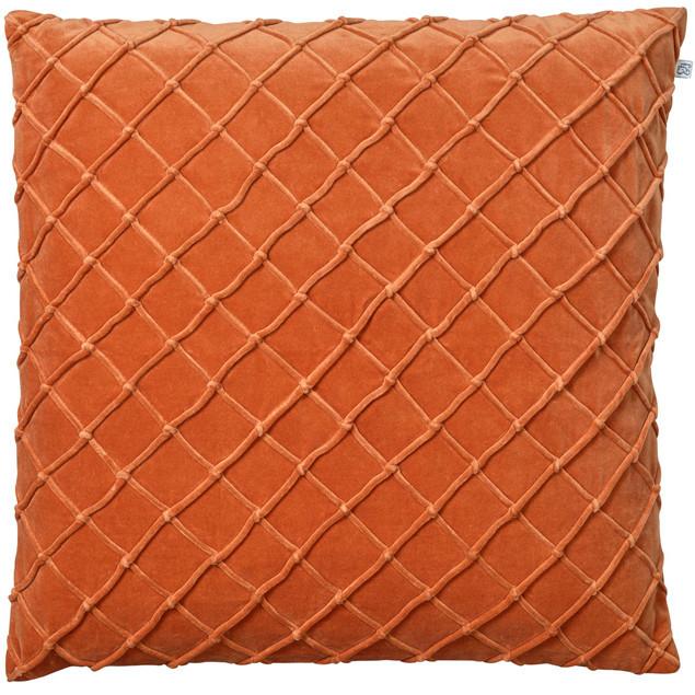 Deva Velvet Cushion Orange: Deva Velvet Cushion Orange