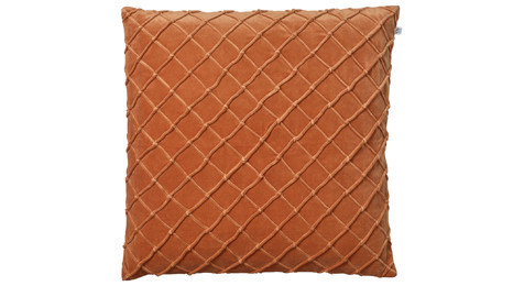 Deva Velvet Cushion Orange