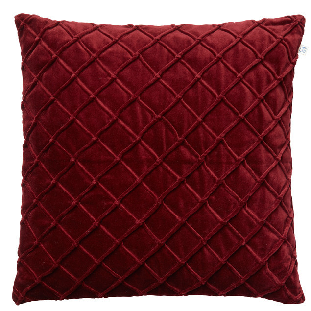 Deva Velvet Cushion Ruby: Deva Velvet Cushion Ruby