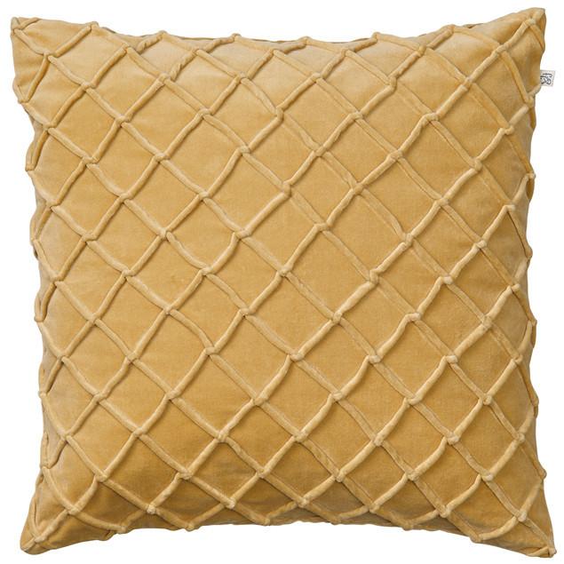 Deva Velvet Cushion Spicy Yellow: Deva Velvet Cushion Spicy Yellow
