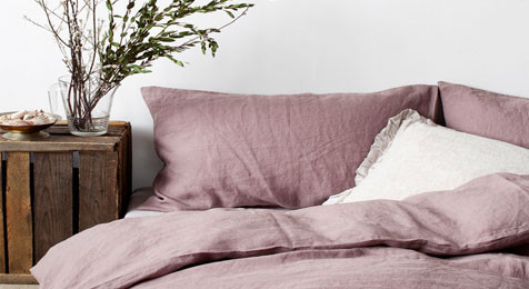 Duvet cover in A Dark Rose Lavender colour