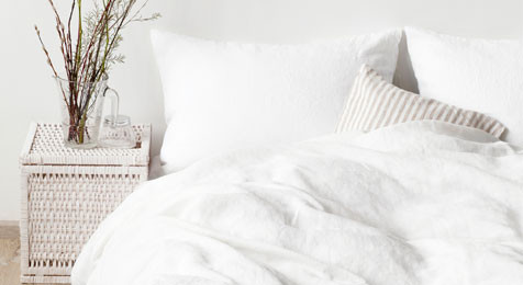 Duvet cover White Linen by Nomads