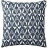 Gangtok Ikat Blue Linen Cushion : Gangtok Ikat Blue Linen Cushion