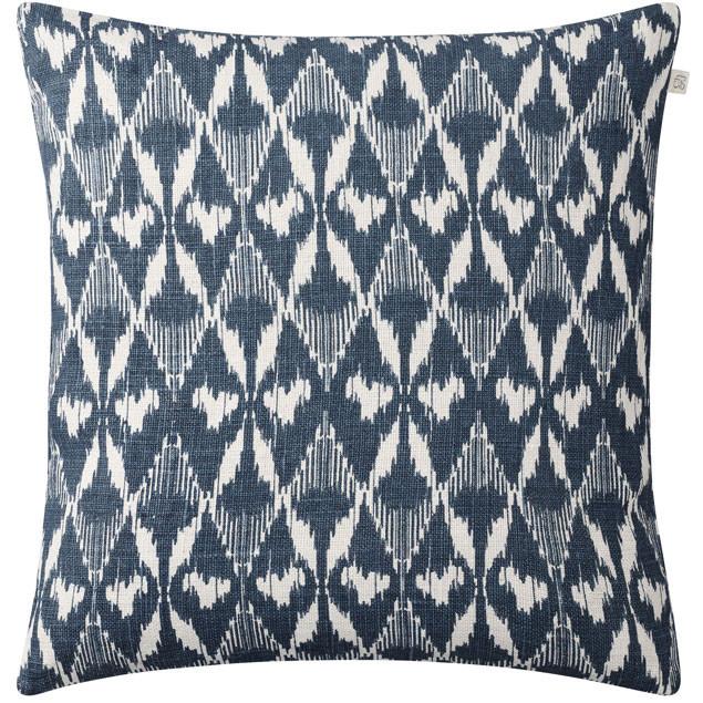 Gangtok Ikat Blue Linen Cushion: Gangtok Ikat Blue Linen Cushion